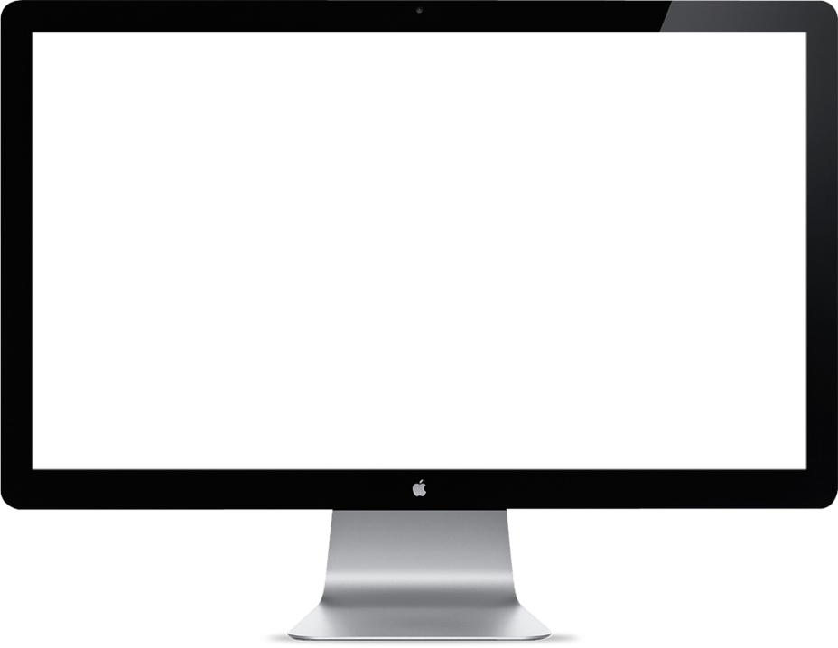 an image of an empty apple monitor